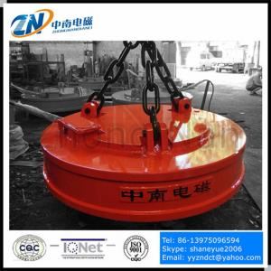 China Lifting Electromagnet Tool Electric Lifting Magnets With Big Size For Iron And Steel MW5-110L/1 on sale