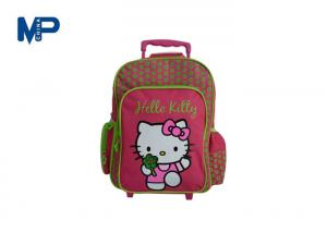 China Pvc Polyester Nylon Children ' S School Fashionable Backpack / Soft Trolley Bag With Trolley And Wheels on sale