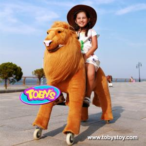 China Tobys ride on tiger toy  pony cycle plush tiger toy on sale