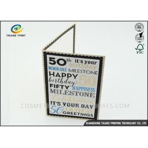 China Kraft Paper Personalised Christmas Cards Pantone Color Environmental Protection on sale