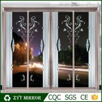 Decorative glass Aluminum partition wall sliding door for sales