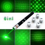 Указатели лазера зеленого цвета луча Рэй с 5 войсками различных картин лазера сильными
