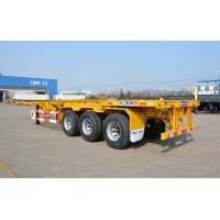 China Lfting Axle Flatbed Container Trailer Airbag Suspension Gooseneck Container Trailer on sale