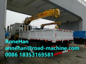 China Chassis 12 Tons HIAB Telescopic Truck Mounted Crane 6X4 LHD Cargo Lift Heavy Duty on sale