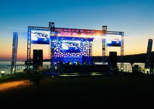 China External Led Screen Truss Water Resistant / Concert Stage Truss Easy Assembly on sale