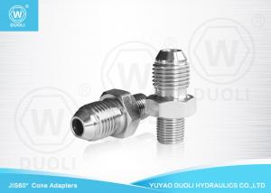 China Straight Hydraulic Pipe Adapters With JIS Male And BSPT Male Thread OEM Service on sale