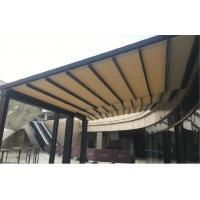 China Waterproof Gazebo PVC Pergola Roof Balcony Retractable Patio Awning With Led Lights on sale