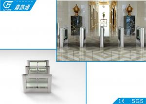 China Electric Magnetic Biometric Drop Arm Turnstile Gate One Direction 25 Persons / Min on sale