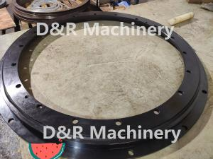 China VLU200844 slewing bearing used for sewage treatment system, INA 50Mn slewing ring with black coating on sale