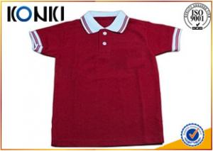 China Different Colors Soft Short Sleeve Cotton Shirt For Boys Uniform on sale