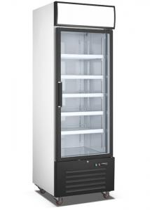 China Upright Glass Door Freezer Refrigerator , Single Glass Door Commercial Refrigerator on sale
