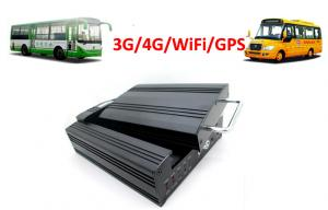 China 4 Channels Hard Disk 4G / 3G Mobile DVR School Bus WiFi GPS G - Force on sale