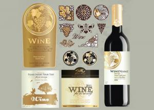China Antarctic White Paper Type Custom Wine Labels Matte Varnishing Surface Finishing on sale