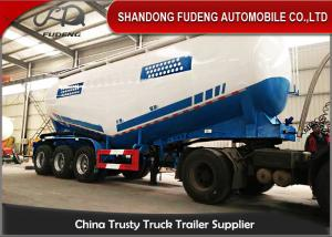 China 3 Axles 50 M3 dry unloading bulk power cement tanker truck trailer powerful tanker trailer on sale