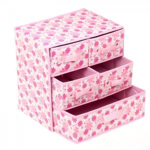 China Foldable AZO Free Non Woven Storage Boxes with Drawers 3 Layer different color on sale