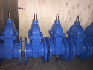 China Cast Iron Rubber Wedge Non-Rising Stem Gate Valve on sale