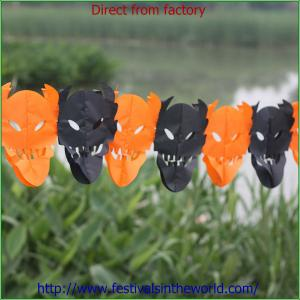 China paper halloween garlands on sale