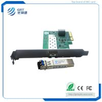 China Cost effective PCIe 10Gigabit 1-Port Ethernet Network Server Adapter Card  with 10G Single Mode Module on sale