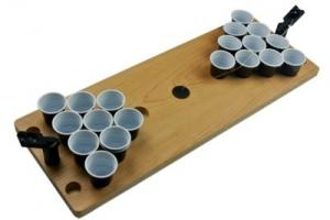 China Plastic Wood Mini Beer Pong Table Drinking Game Table Portable Game Table, wood and plastic material, custom logo ok on sale