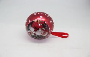 China Tin Ball Christmas Decorative Gift Tin Cans New Design Hanging on sale