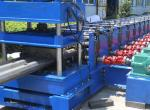 3 Waves Highway Profile Steel Roll Forming Machine For Expressway Guard Bars Use 45Kw Motor and Hydraulic Cutting