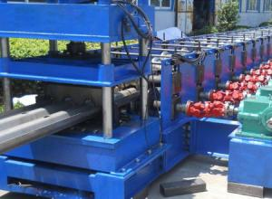 China 3 Waves 45 Kw Profile Steel Roll Forming Machine For Expressway Guard Bars on sale