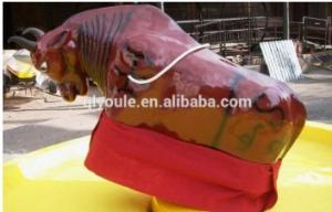 China Popular Portable Carnival Rides Mechanical Bull With 1-2 Persons Capacity on sale