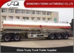 China 5 Compartments Aluminum Tank Semi Trailer , Petroleum Tank Trailers 50000 Liters wholesale