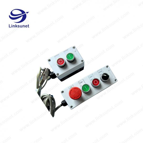 buy cheap 2p - 6p pa6/aluminum white button box with custom wiring harness  from