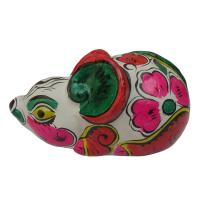 China clay sculpture Chinese Zodiac business gift  painted mouse  birthday gift on sale