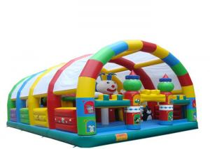 China Sport Outdoor Inflatable Playground Custom Logo Printable High Safety With Cover on sale