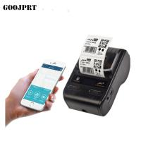 Portable 58mm thermal barcode  printer bluetooth label sticker printer