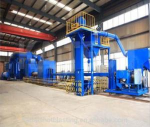 China Auto Steel Pipe Shot Blasting Machine Electric Outside Cleaning One Year Warranty on sale