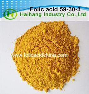 China Folic acid Vitamin B9 HPLC 97.0%min bulk use for dietary supplements on sale