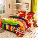El lecho impreso reactivo de bambú de la cubierta del edredón 3d fija para el dormitorio/el hotel caseros