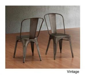 China Waterproof Metal Tolix Chairs Outdoor Dining For Industrial Steel Vintage Cafe on sale