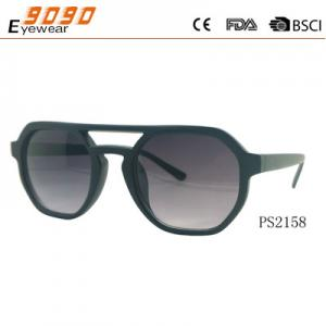 China New arrival and hot sale of plastic sunglasses  ,suitable for women and men, on sale