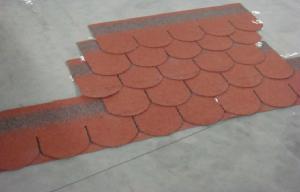 Quality Colorful Red Asphalt Roof Shingles Bitumen Fibergl For Mansion