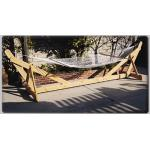 Cadeira de suspensão de madeira da rede do tamanho grande