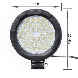 China 4WD Jeep Off Road Car LED Headlights Round Shape IP 67 Waterproof Rate on sale