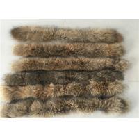 Raccoon Cream Fur Collar For Garment  Accessories , Long Hair Vintage Fur Collar