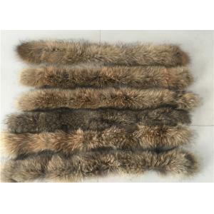 China Raccoon Cream Fur Collar For Garment  Accessories , Long Hair Vintage Fur Collar  on sale