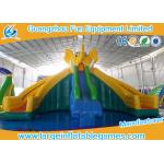 Huge Commercial Inflatable Slide Cartoon Obstacle Course Water Slide For Kids play