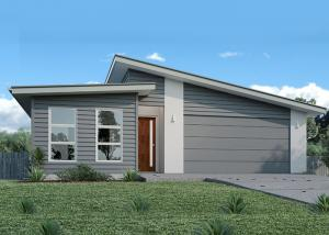 China Australia Style Prefab House Kits , Modern Prefab House With WPC As Exterior Wall Cladding on sale
