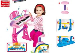 China Plastic Kids Musical Instrument Toys With Chair , Children's Keyboard Piano on sale