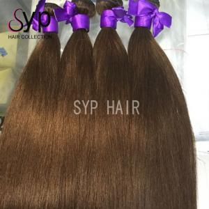 China European Virgin Russian Dark Brown Ombre Hair Extensions Extra Long Double Weft on sale