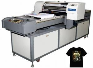 China small 3D t-shirt printer for Leather, silk, polyester, cotton, chiffon, canvas on sale