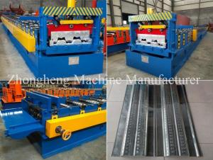 China High Strength 22KW Floor Deck Roll Forming Machine With Gearbox Drive on sale