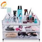 China Makeup storage containers Clear makeup organizer with 3 drawers wholesale