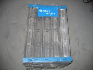 China High Cr Cast Iron Hammer White Iron Castings With HRC52-65 Hardness on sale
